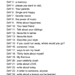 30 Days Writing Challenge (Describe your personality)